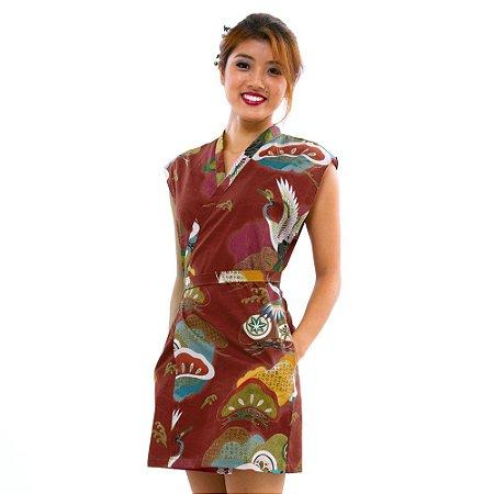 Vestido Marrom Hanabi