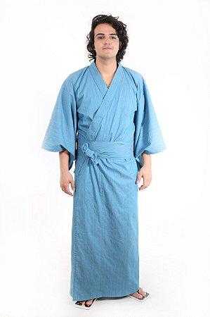 Kimono Azul Longo