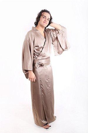 Kimono Marrom Cintilante