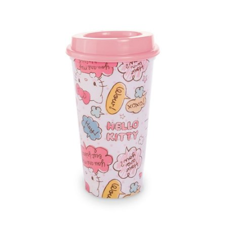 Copo Hello Kitty com Tampa 500ml