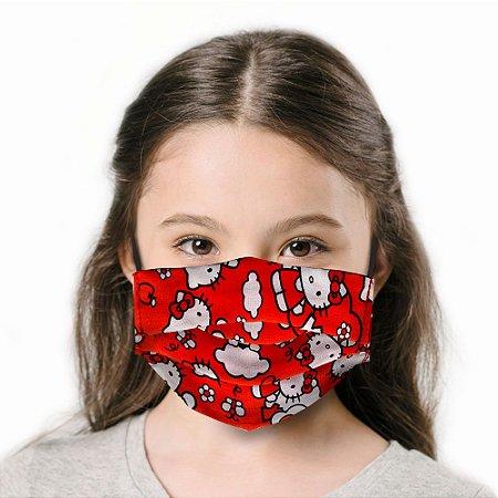 Máscara Infantil Hello Kitty Vermelha