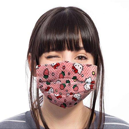 Máscara Hello Kitty Rosa Moranguinho