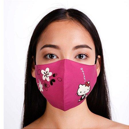 Máscara Hello Kitty Rosa Bico de Pato