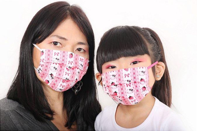 Máscara Hello Kitty Laços Moranguinho
