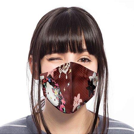 Máscara Bico de Pato Hello Kitty Vinho