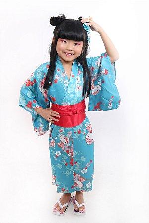 Kimono Infantil Hello Kitty'19 Azul