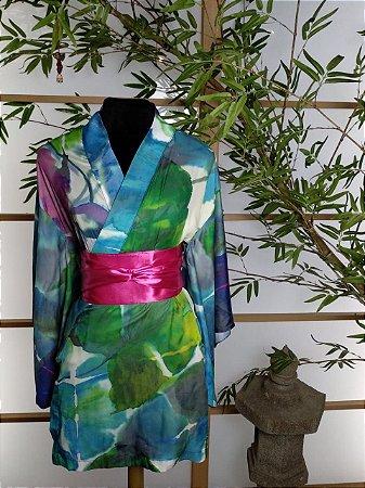Kimono Curto Mesclado