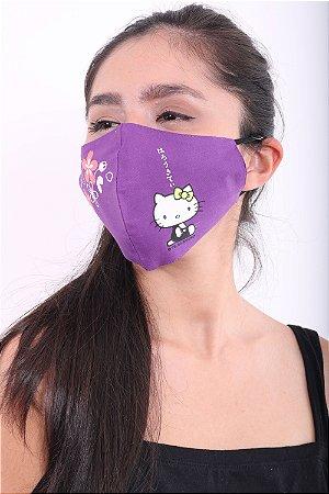 Máscara Hello Kitty Roxa Bico de Pato
