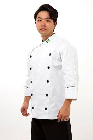 Dolmã Branca de Chefe de Cozinha