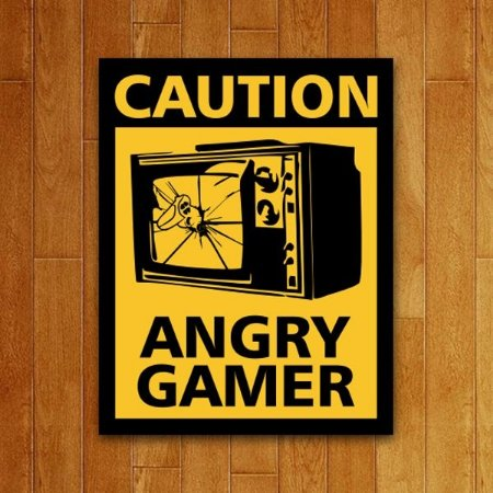 Placa Decorativa Angry Gamer