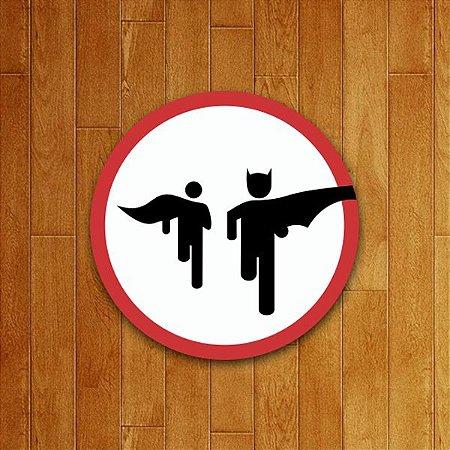 Placa Decorativa Bat Run