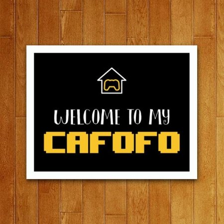 Placa Decorativa Cafofo Gamer