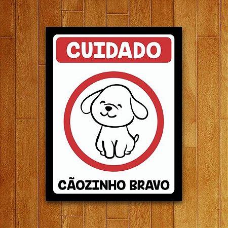 Placa Decorativa Cãozinho Bravo V2