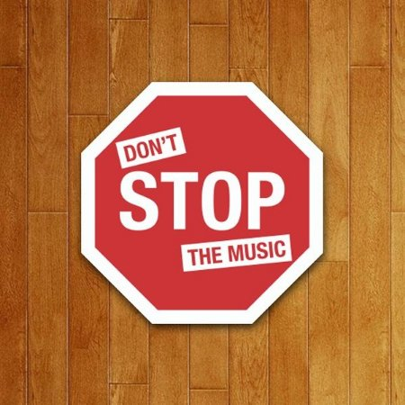 Placa Decorativa Don't Stop The Music