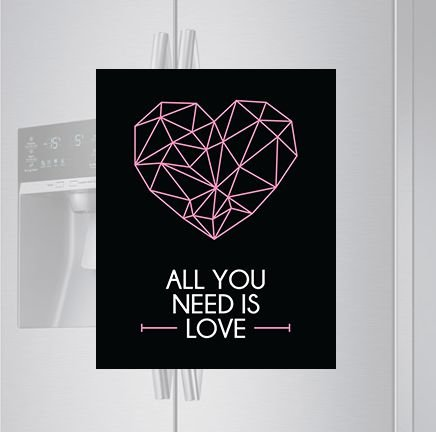 Imã de geladeira - All you need is love