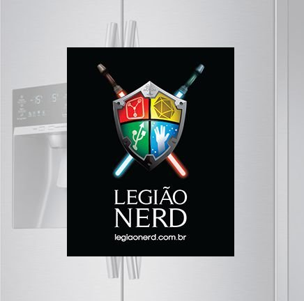 Imã de geladeira - Logo Legião Nerd