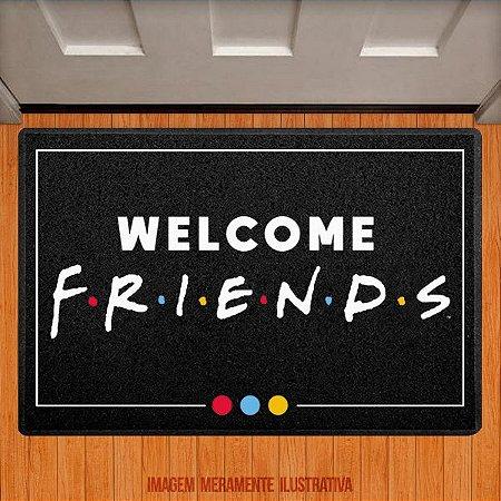 Capacho Welcome Friends (colorido)