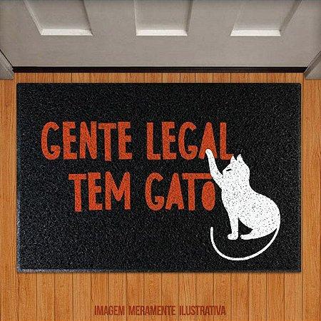 Capacho Gente legal tem gato