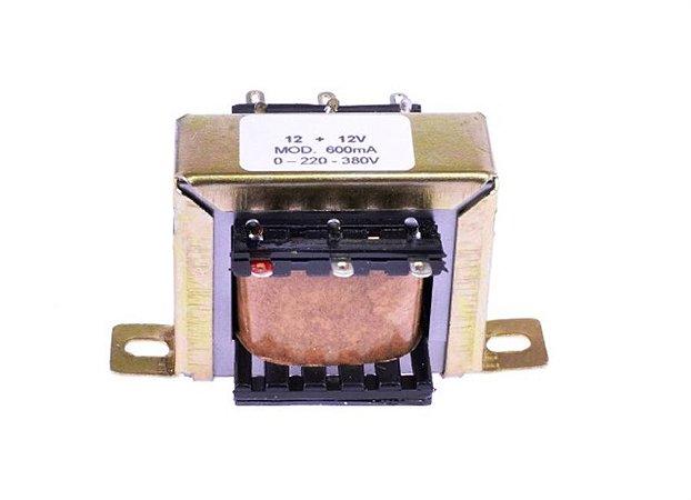 Transformador 220/380V - 12+12V / 600mA