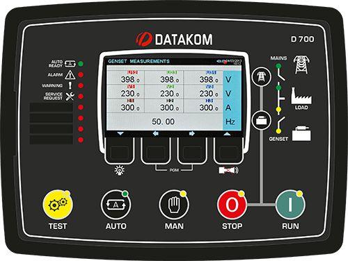 Sincronizador avançado de controlador de grupo de geradores D-700