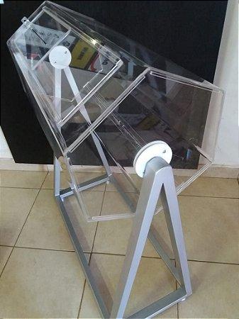Urna giratória 100x60cm