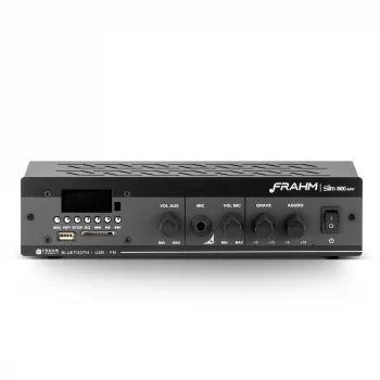 Amplificador - Receiver para Som Ambiente Frahm SLIM 1800 Bluetooth 60W