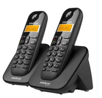 Telefone Sem Fio Intelbras Com Ramal Adicional Ts 3112 Preto