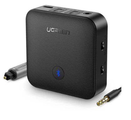Adaptador Transmissor Áudio Bluetooth 5.0 Aptx Hd Óptico 3.5