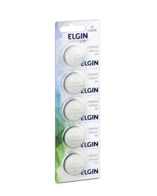 Bateria Elgin Cr2450 Cartela C/ 5 Un