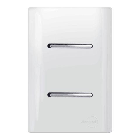 Interruptor Simples + 1 Paralelo - Dicompel Novara - 1200/7