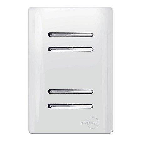 Interruptor Quadruplo Simples - Dicompel Novara - 1200/172
