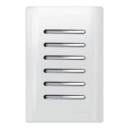 Interruptor 6 tecla 3 Simples + 3 Paralelos - Dicompel Novara - 1200/177