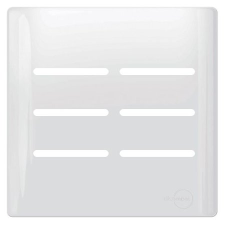 Placa 6 Interruptores 4X4 - Dicompel Novara - 1100/57