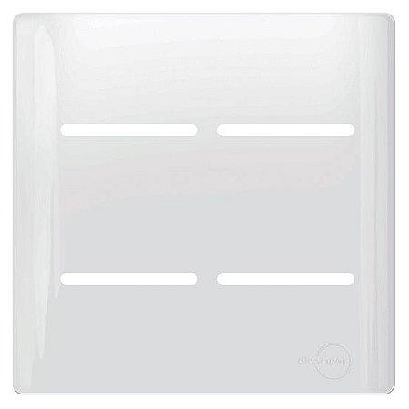 Placa 4 Interruptores 4X4 - Dicompel Novara - 1100/56