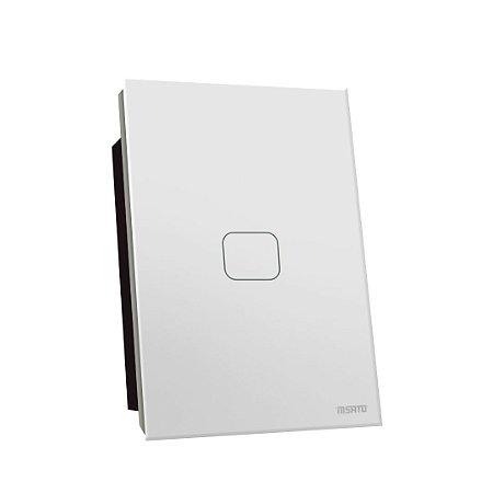 Interruptor Touch Rele 1 Pad - Branco Quadrado 4x2