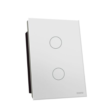Interruptor Touch Rele 2 Pads - Branco Redondo 4x2