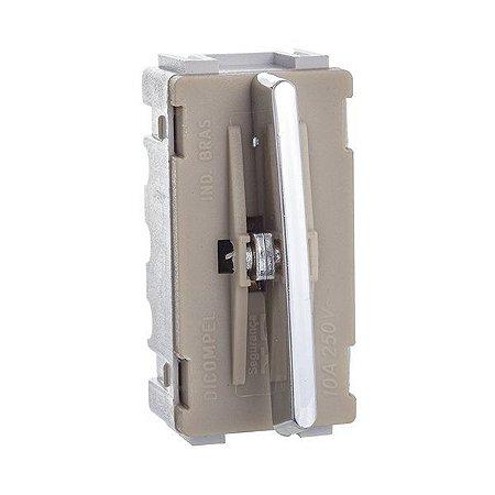 Módulo Interruptor Simples Cromado - Dicompel Novara - 1200/34