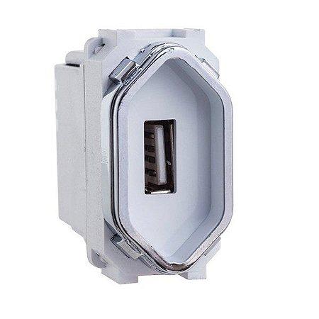 Módulo Cromado Tomada USB 2A - Dicompel Novara - 1200/148