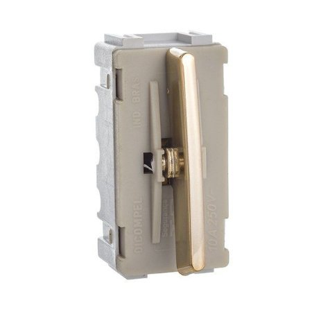 Módulo Interruptor Simples - Dourado - Dicompel Novara - 1200/157