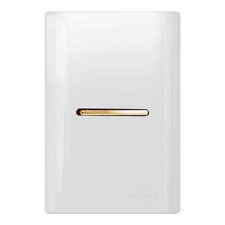 Conjunto 1 Interruptor Simples Horizontal - Dicompel Novara - 1200/2-Gold