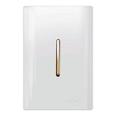 Conjunto 1 Interruptor Simples Vertical - Dicompel Novara - 1200/1-Gold