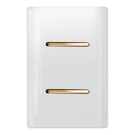 Interruptores duplo Simples - Dicompel Novara - Gold