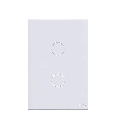 Interruptor Touch 2  Teclas Branco Lumenx Linha Glass 4x2