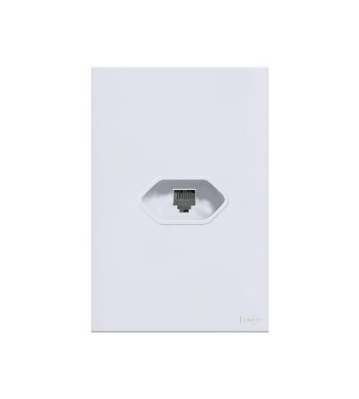 Placa c\ Conector RJ11 Branca Lumenx Linha Glass 4x2