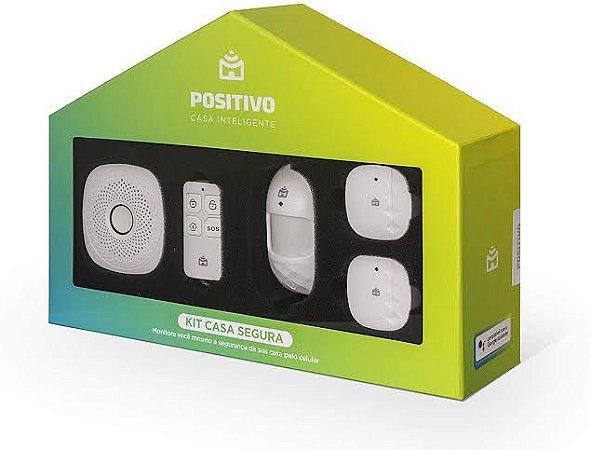 Kit Casa Segura Positivo C/ Smart Central Alarme - 5 Peças