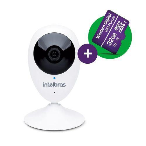 Câmera Ip Sem Fio Wi-fi Mibo Ic3 + Micro Sd 32 Gb Intelbras