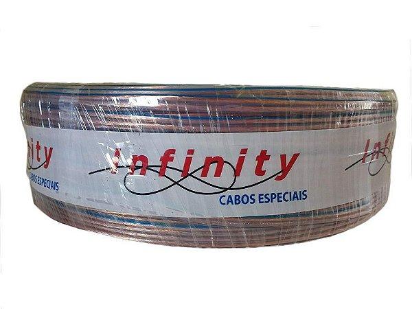 Fio Bicolor Paralelo Cristal Rolo 100 Metros Cabo 2 X14 1,5Mm - Infinity
