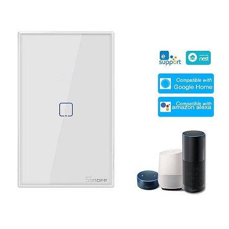 Interruptor Touch Sonoff Wifi + RF 433 1 tecla Branco [T2USC-TX] - 4x2