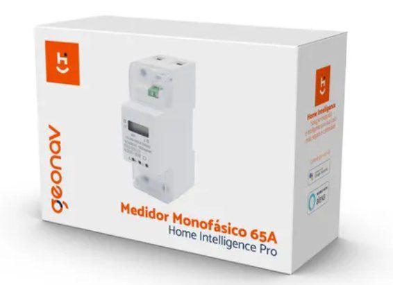 Medidor Consumo De Energia Monofásico 110/220v 65a Wifi