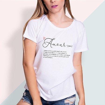 T-SHIRT FEMININA ILUSTRADA AMOUR